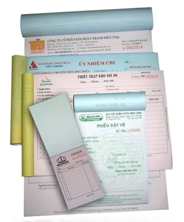Các loại giấy in hóa đơn