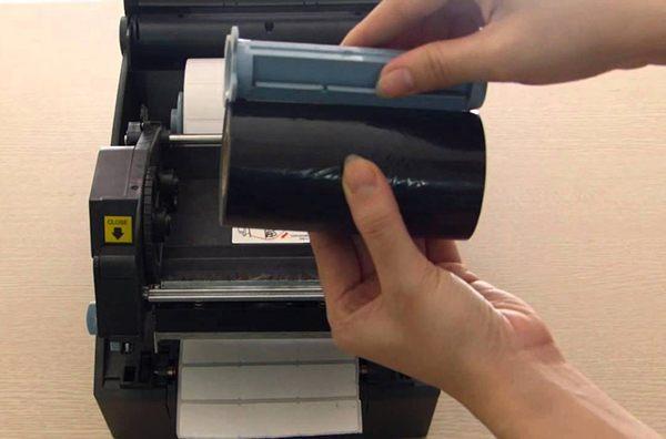 cách lắp mực máy in mã vạch