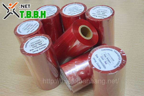 Mực in mã vạch Red Wax Ribbon HTC11