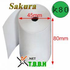 Giấy in nhiệt Sakura k80 Ø 45mm
